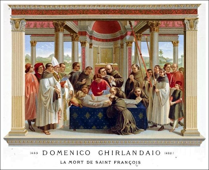 Domenico Ghirlandaio – La mort de Saint François