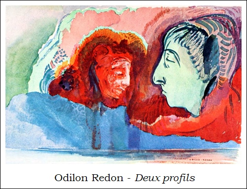 Odilon Redon – Deux profils